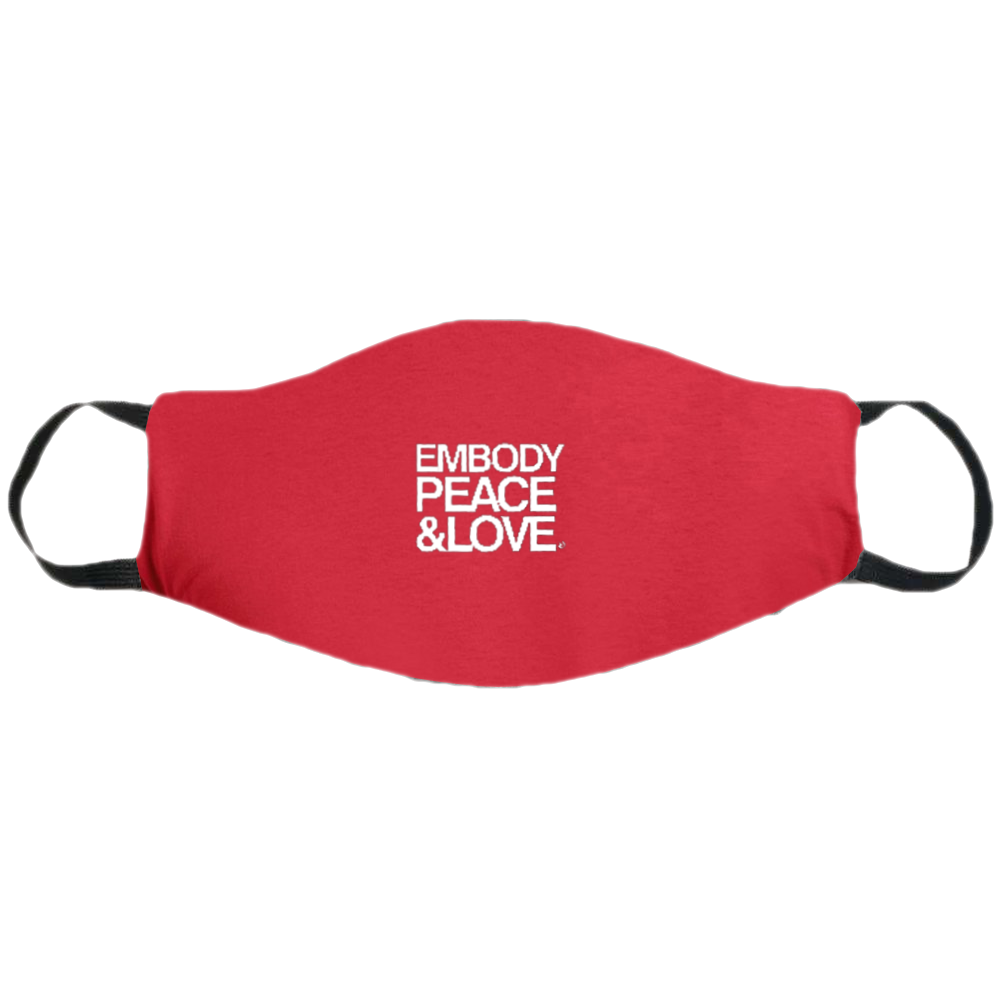 Face Mask ~ Embody Peace & Love on colored masks no.2. Buy any 2 Face Masks get $2.08 Off at checkout!