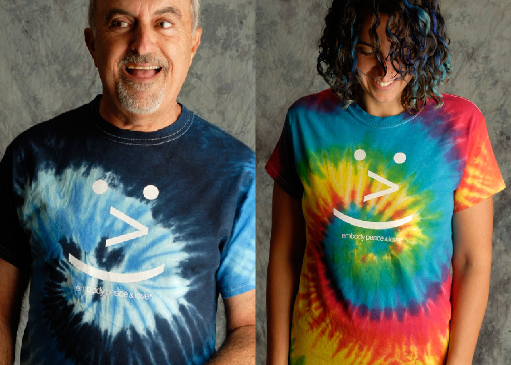 Unisex Smiley Face Tie Dye T-shirt