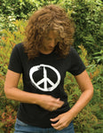 Women's Peace Sign T-shirt on GILDAN (regular fitting style)