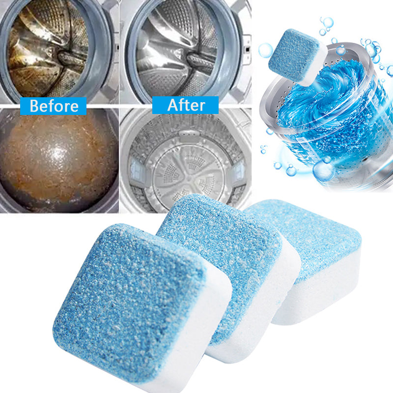 1/4 Tab Washing Machine Cleaner Washer Cleaning Detergent Effervescent Tablet Washer Cleaner