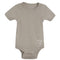 Living Crafts bomulds body m/korte ærmer, taupe