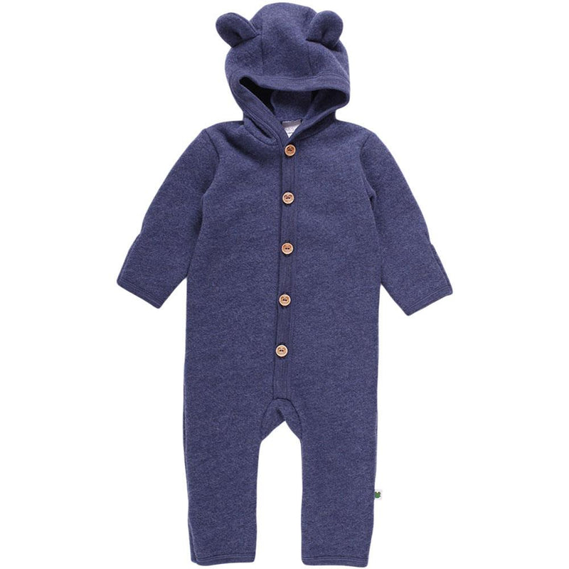 Fred's World dragt i uldfleece - Navy melange