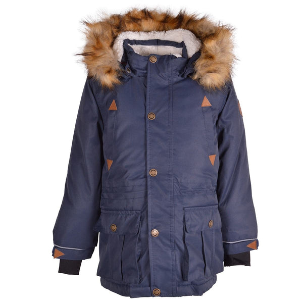 Mikk-Line parka-jakke, lang - Blue Nights