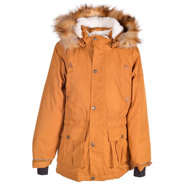 Mikk-Line parka-jakke, lang - Golden Brown