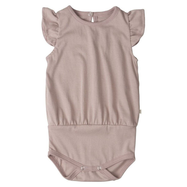 Minimalisma body m/korte ærmer, Pippi - Dusty Rose