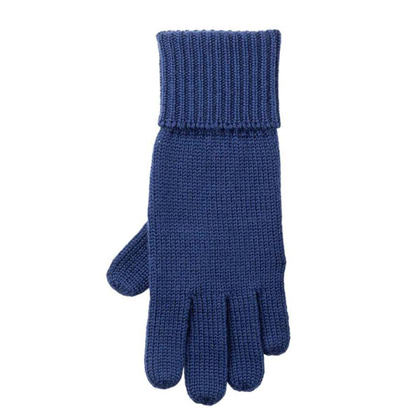 Pure Pure fingervanter i uld - Nautic Blue