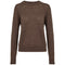 Basic Apparel Sweater, Vera O-neck - Brown Mel