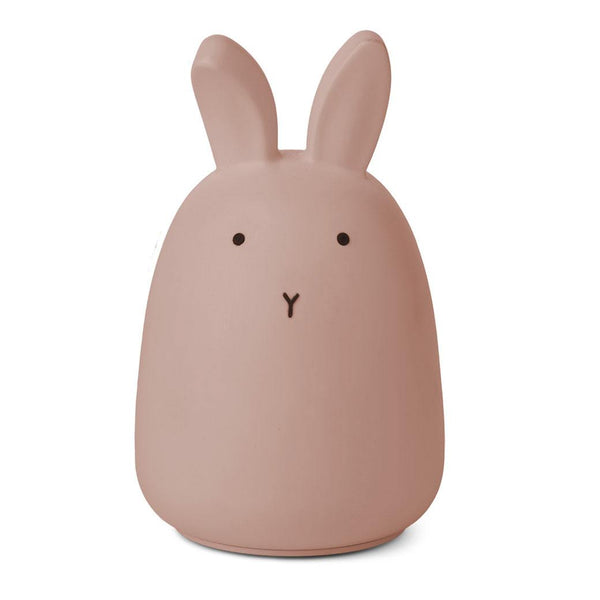 Liewood LED natlampe i silicone, Winston - Rabbit dark rose