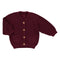 Pierrot La Lune cardigan i strik, Christopher - Burgundy