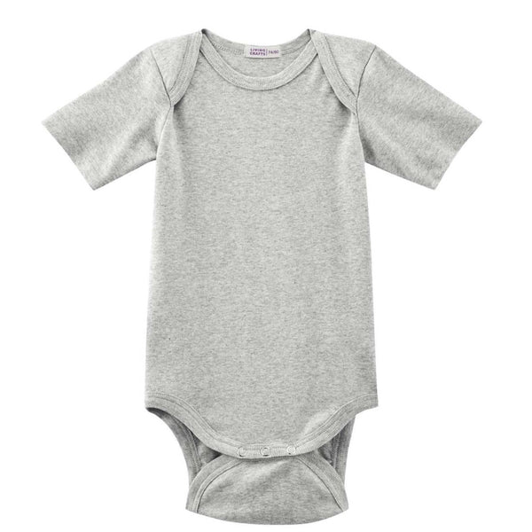 Living Crafts body m/korte ærmer, Grey Melange