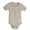 Living Crafts bomulds body m/korte ærmer, taupe stribet