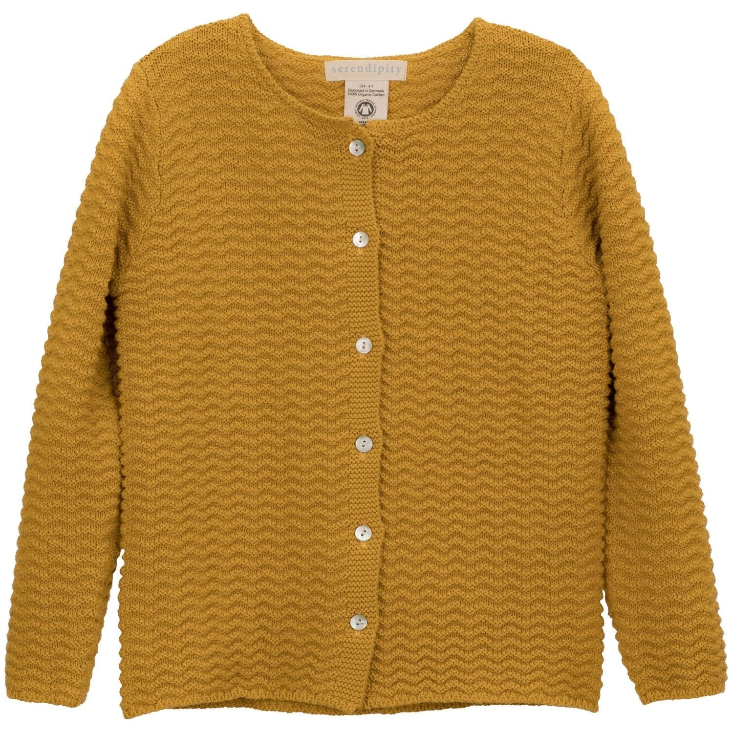 Image of   Serendipity cardigan m/knapper, barn - Golden
