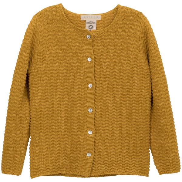 Serendipity cardigan m/knapper, barn - Golden