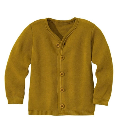 Disana cardigan i uld - Gold