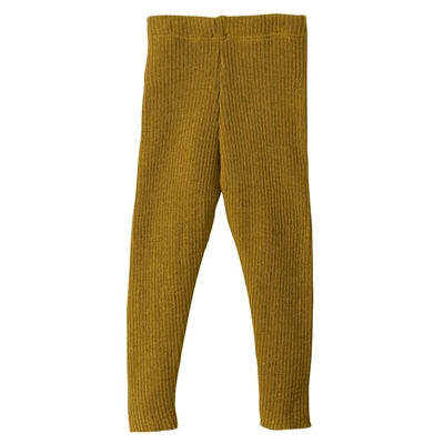 Disana bukser / leggings i uld m/rib - Gold