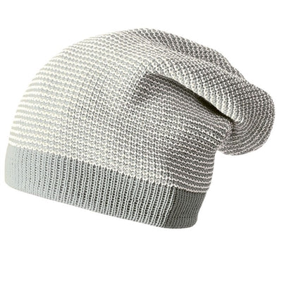 Image of   Disana hue / beanie i uld, lang - Grey/Natural Mel.