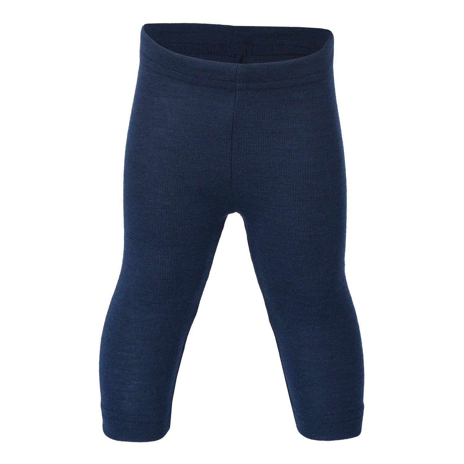 Image of   Engel bukser / leggings, uld/silke - Navy/blå