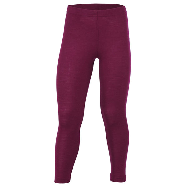 Engel bukser / leggings, uld/silke - Orchidee