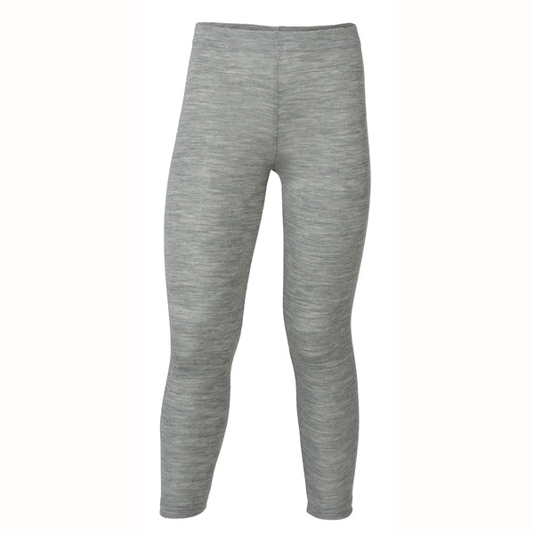 Engel bukser / leggings, uld/silke - Grey melange