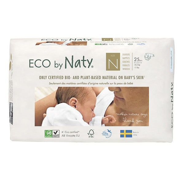 Naty Eco bleer - str 0/Newborn - 0-4,5 kg