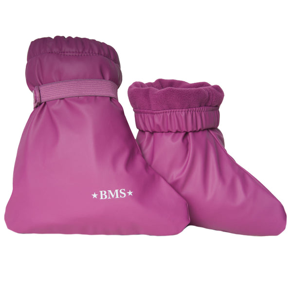 BMS regnfutter til baby m. fleece - Purple