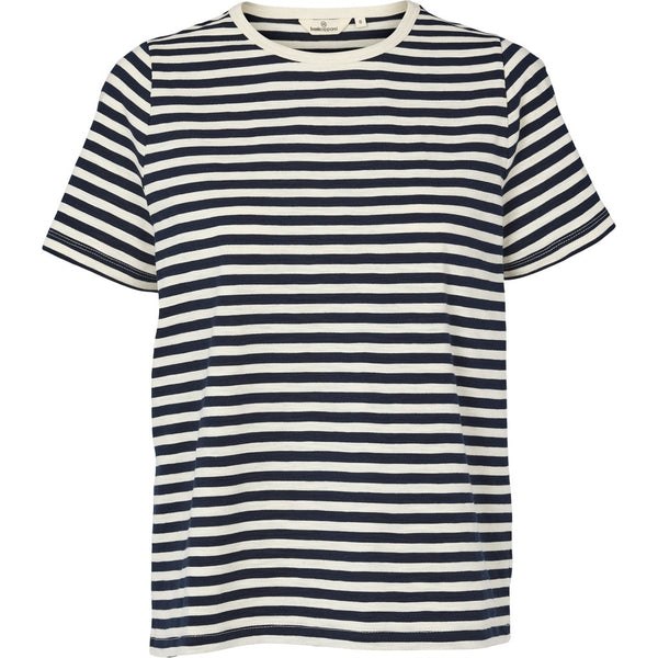 Basic Apparel t-shirt med striber, Rita - Navy