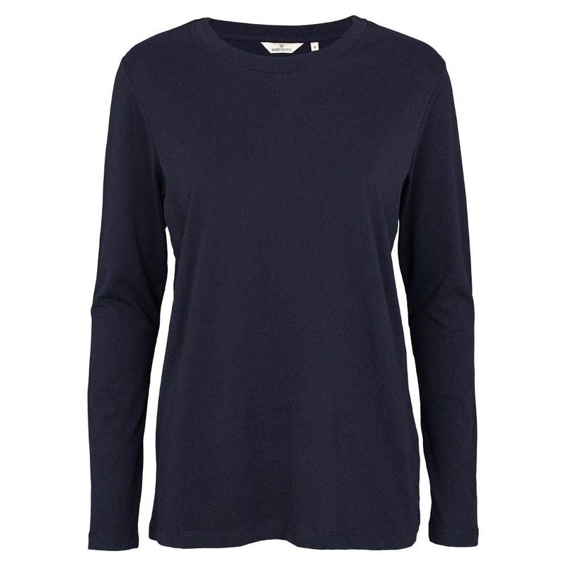 Basic Apparel langærmet t-shirt, Rikke - Navy