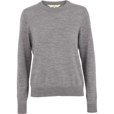 Basic Apparel Sweater, Vera O-neck - Light Grey Mel - naturebaby.dk