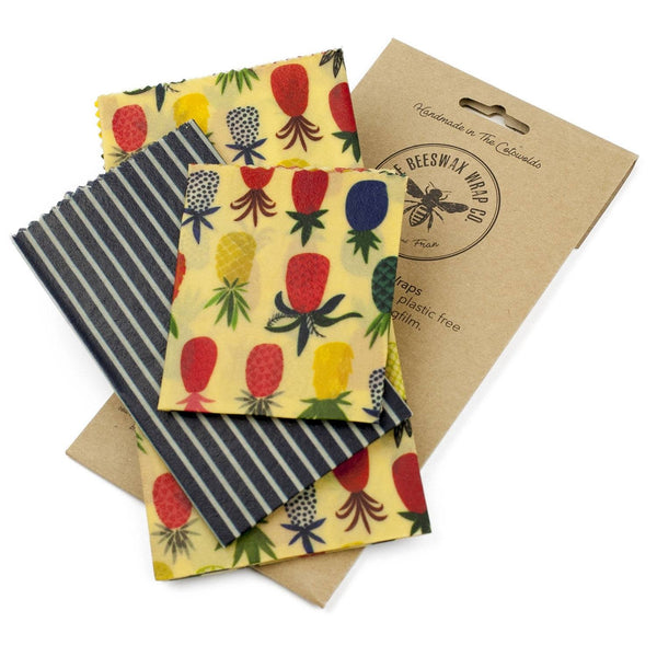 The Beeswax Wrap Co. Pineapple, Medium Kitchen Pack - 3 wraps