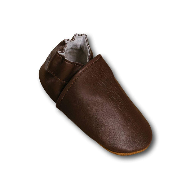 Babymocs sutsko, Barefoot - Dark Brown