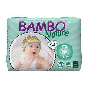 Bambo Nature bleer - Str 2 Mini, 3-6kg. - 30stk.