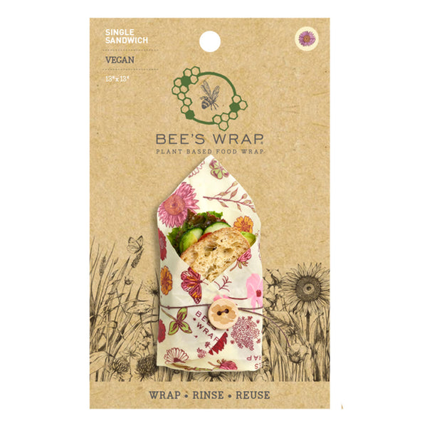 "Bee's Wrap sandwich ""Meadow Magic"" 1 stk. - Vegansk"