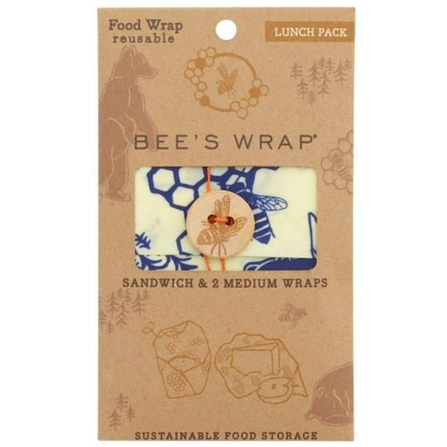 Bee's Wrap - 3-pak - Lunch - Bears & Bees thumbnail