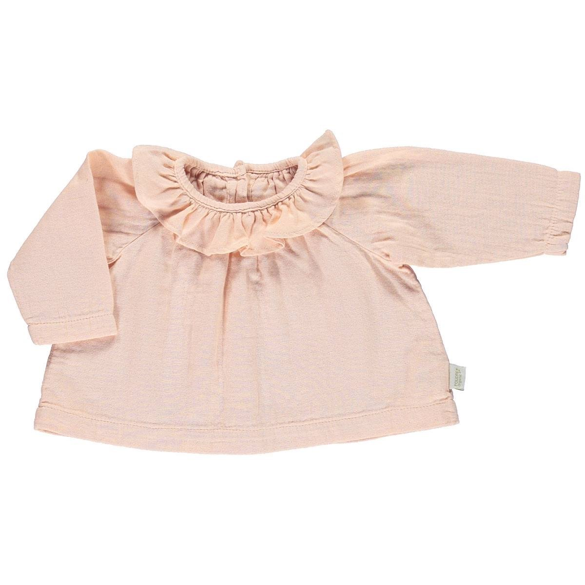 Image of   Poudre Organic bluse m/krave, Charme - Evening Sand