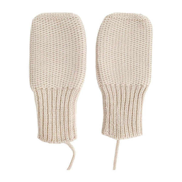 hvid luffer i uld, Mittens - Off-White