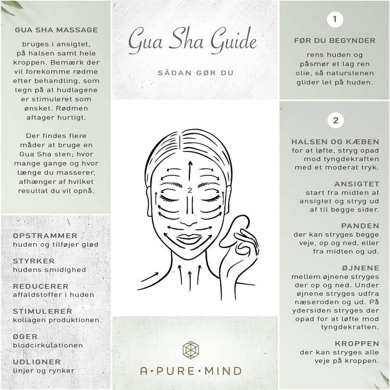 A Pure Mind - Gua Sha heart, Green Jade