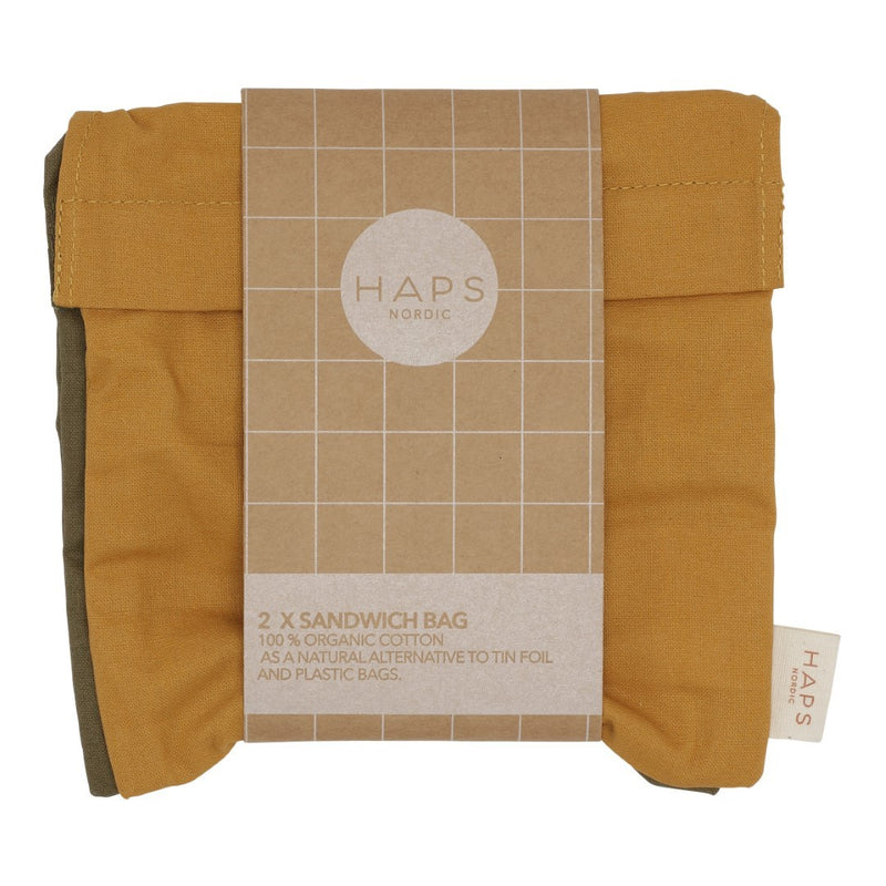HAPS 2-pak sandwich bag, 16x16 - Fall mix