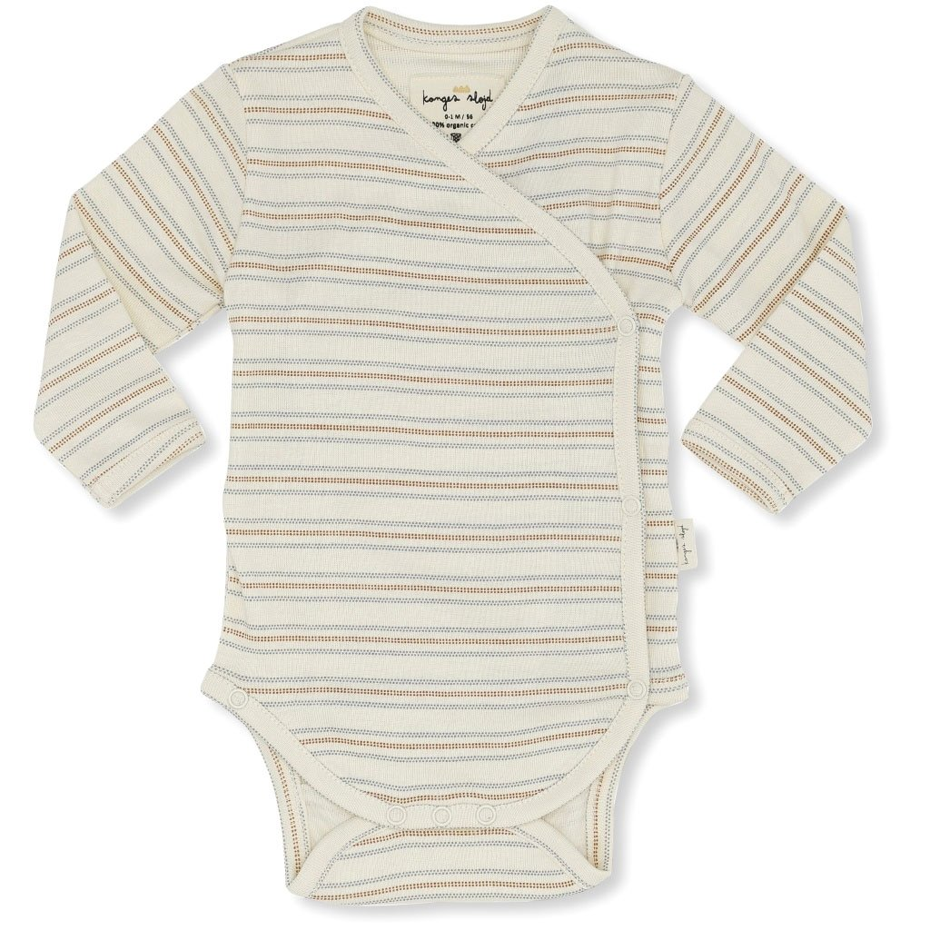 Image of   Konges Sløjd body m/lange ærmer, New Born Deux - VINTAGE STRIPE