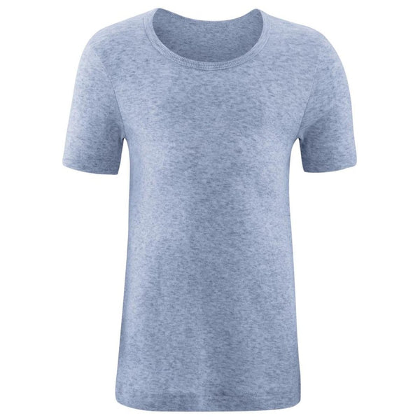 Living Crafts t-shirt - Blå Melange