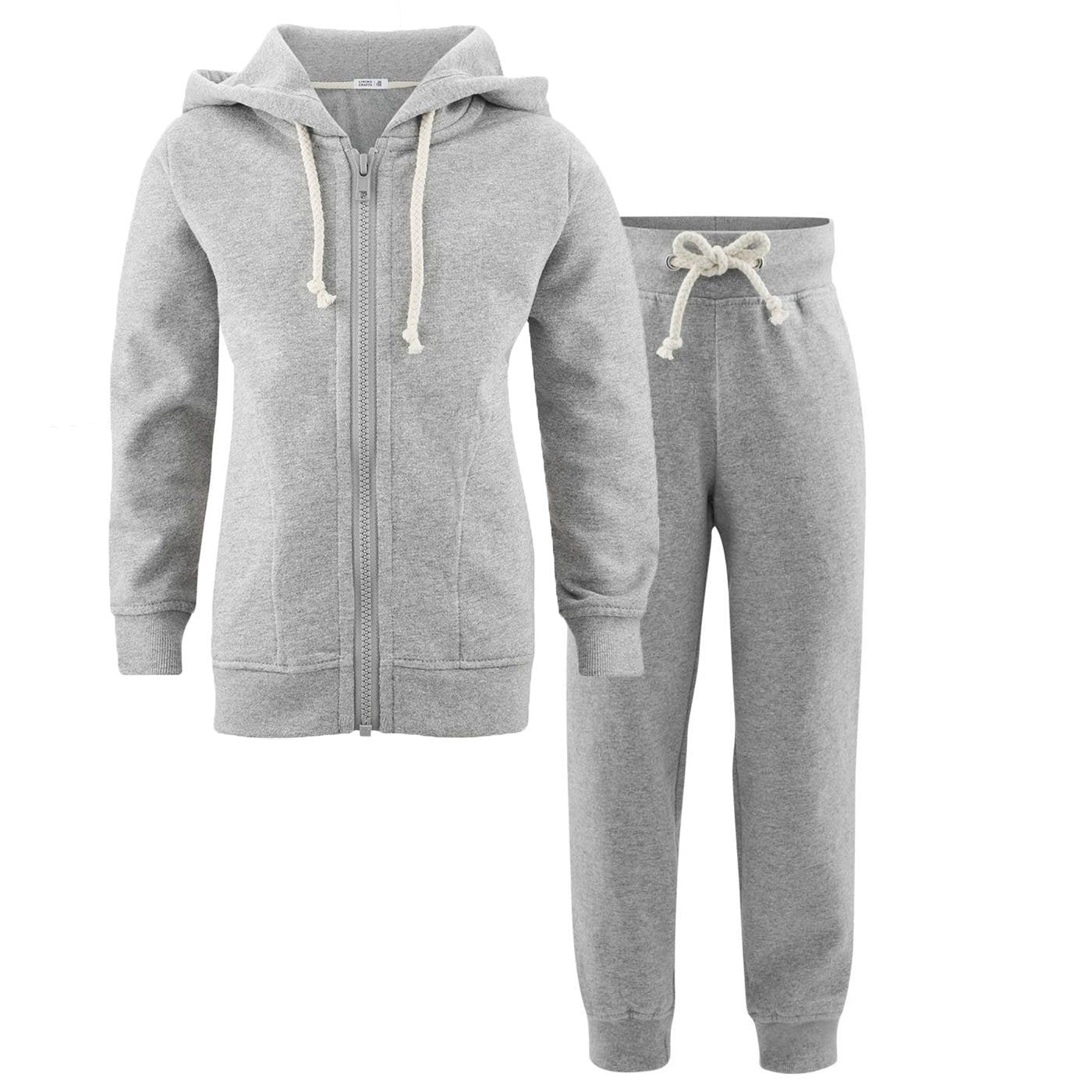 Image of   Living Crafts jogging-sæt, Grey Melange