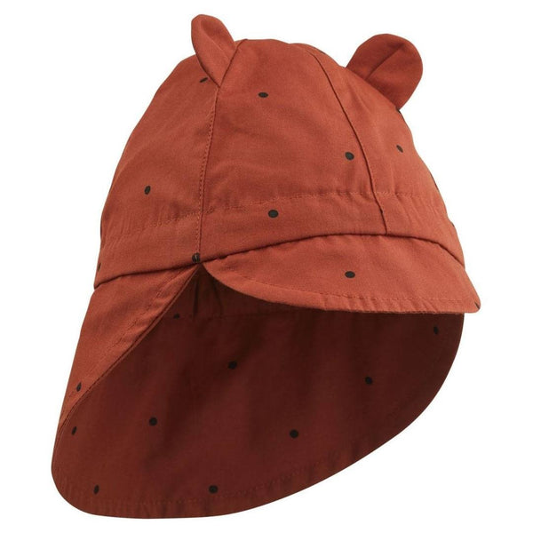 Liewood solhat m/nakkeskygge, Classic dot - Rusty
