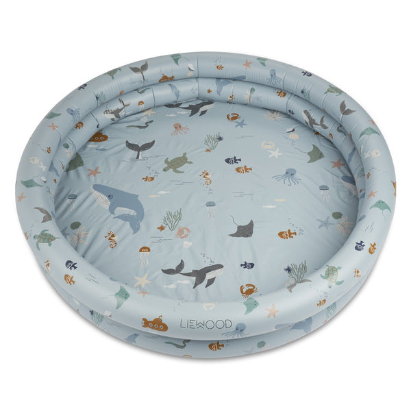 Liewood badebassin, 150x25cm - 230L, Savannah - Sea creature mix