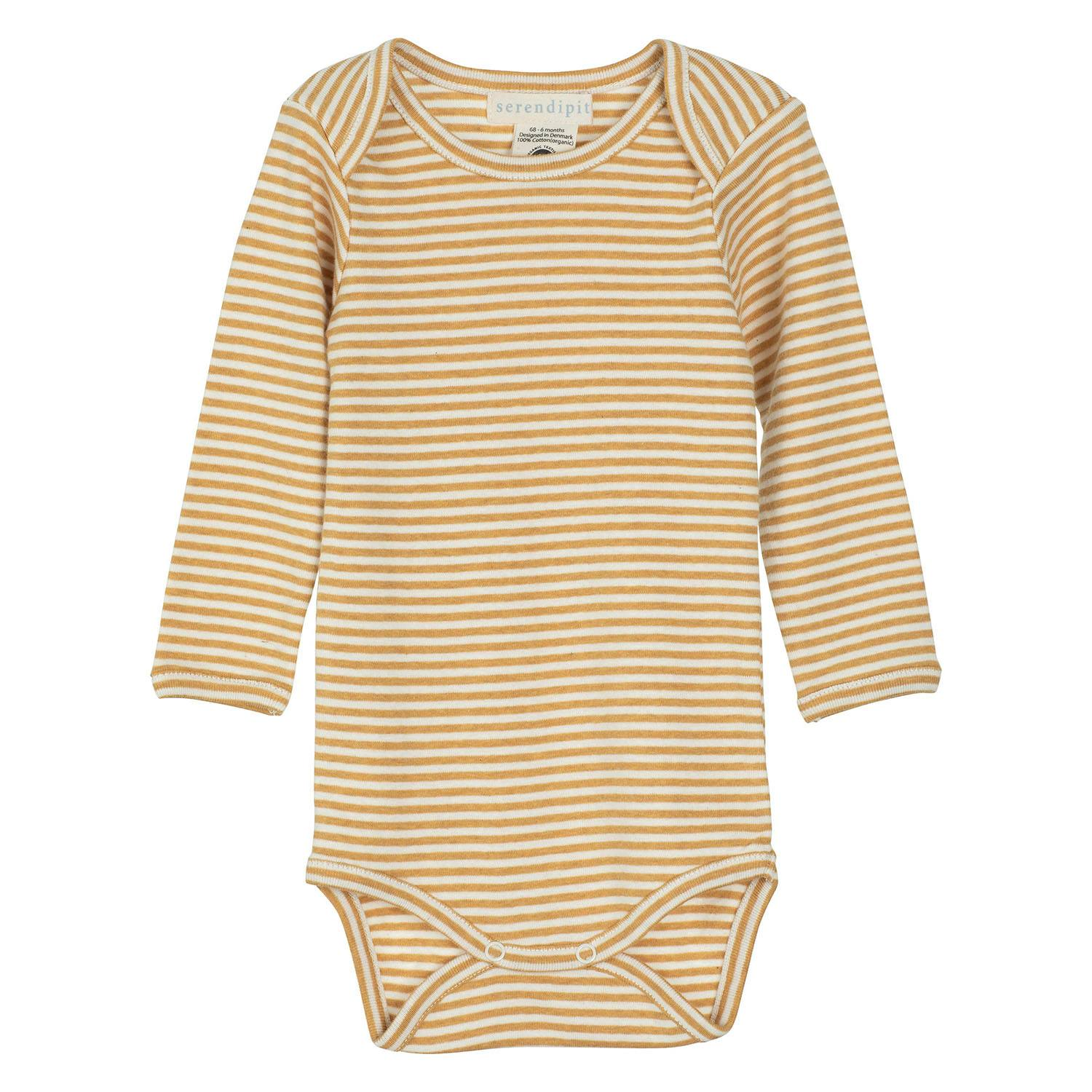 Image of   Serendipity body m/lange ærmer, baby - Honey/Offwhite