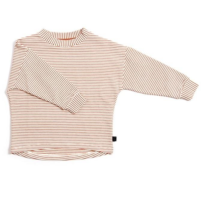 Image of   MONKIND bluse m/lange ærmer - Red Stripe
