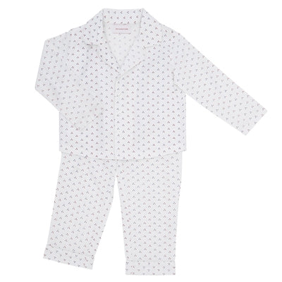 On Cloud Nine pyjamas, Mel - Blue/red dots