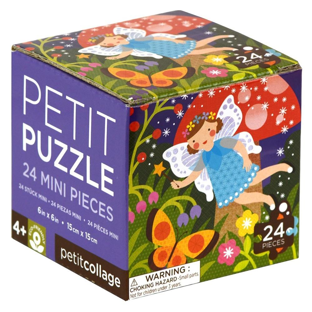 Image of   Petit Collage mini puslespil m/24 brikker - Feer