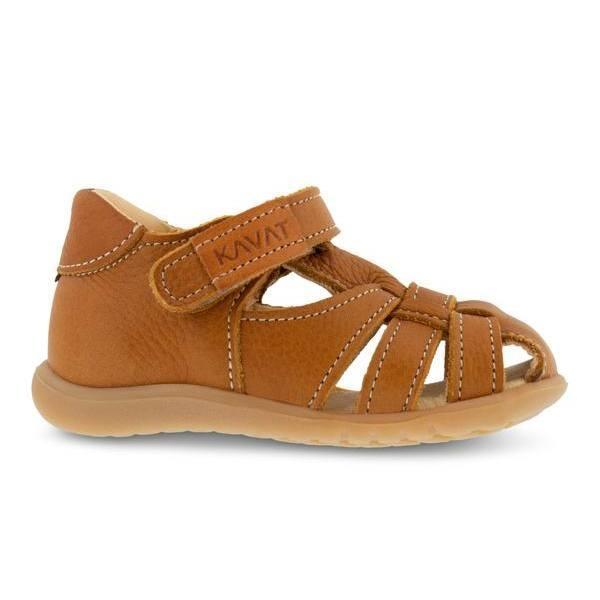 Kavat sandal m/lukket tå, Rullsand EP - Light Brown