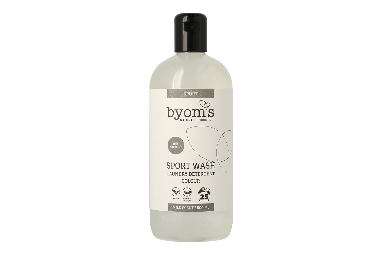 byoms sport wash 500 ml - probiotika vaskemiddel, Colour thumbnail