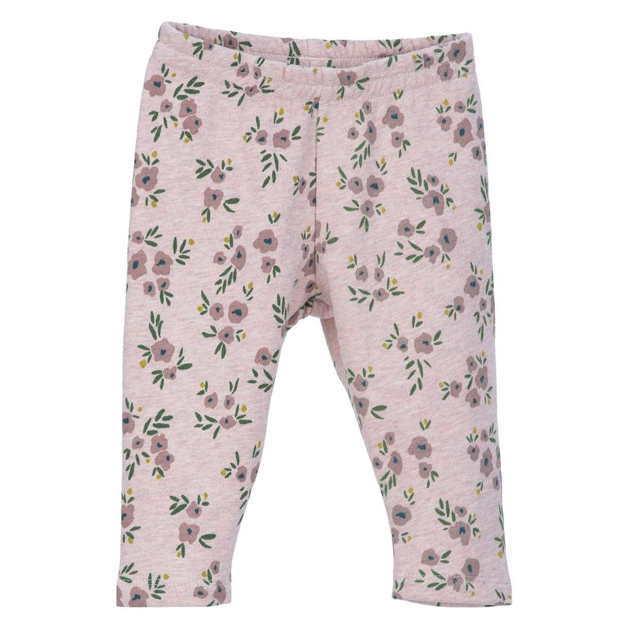 Image of   Serendipity bukser / leggings til baby, sweat - Powder Flowers