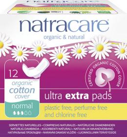 Natracare Ultra Extra - Bind Normal, 12 stk